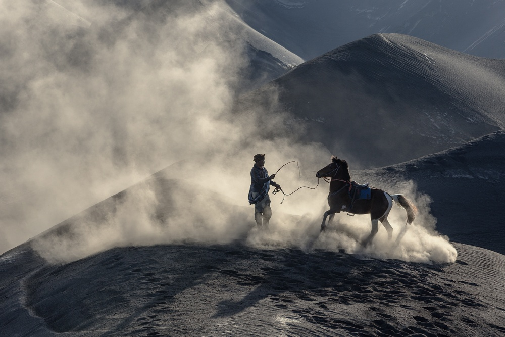 A piece of fine art art photography titled The Horseman by Ronni Santoso