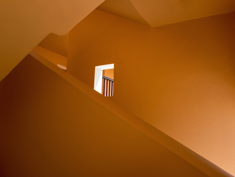 A piece of fine art art photography titled Stairwell by Martin Sander