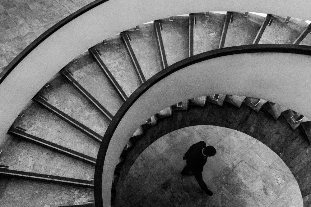 A piece of fine art art photography titled The Crestfallen Man by camilo otero