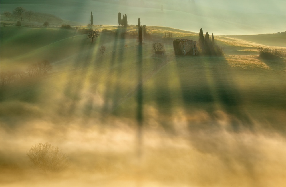 A piece of fine art art photography titled Mist by Krzysztof Browko