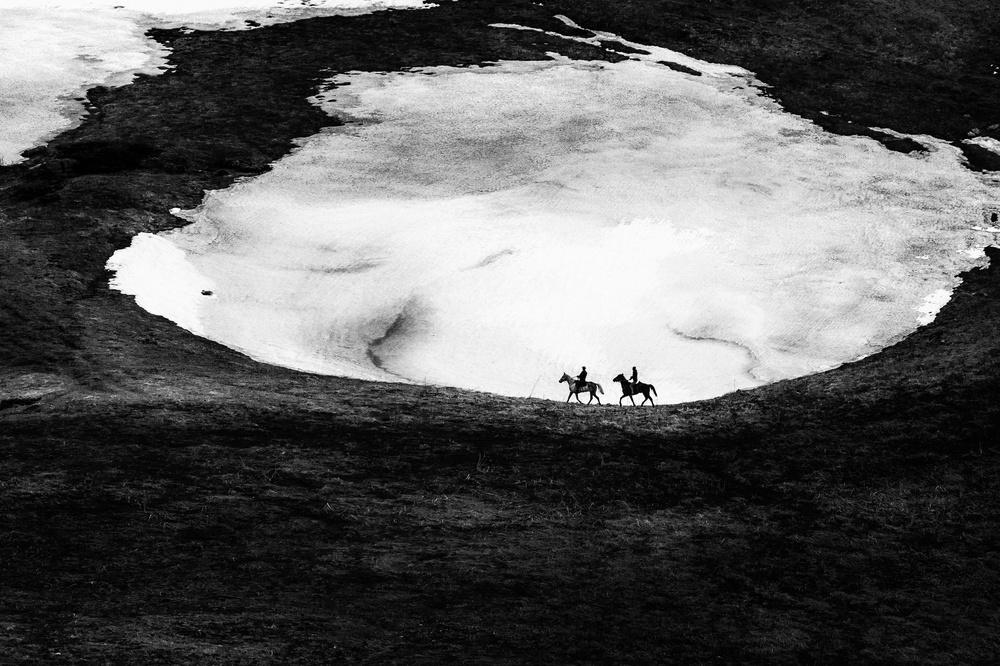 A piece of fine art art photography titled Lago-Naki by MIKHAIL POTAPOV