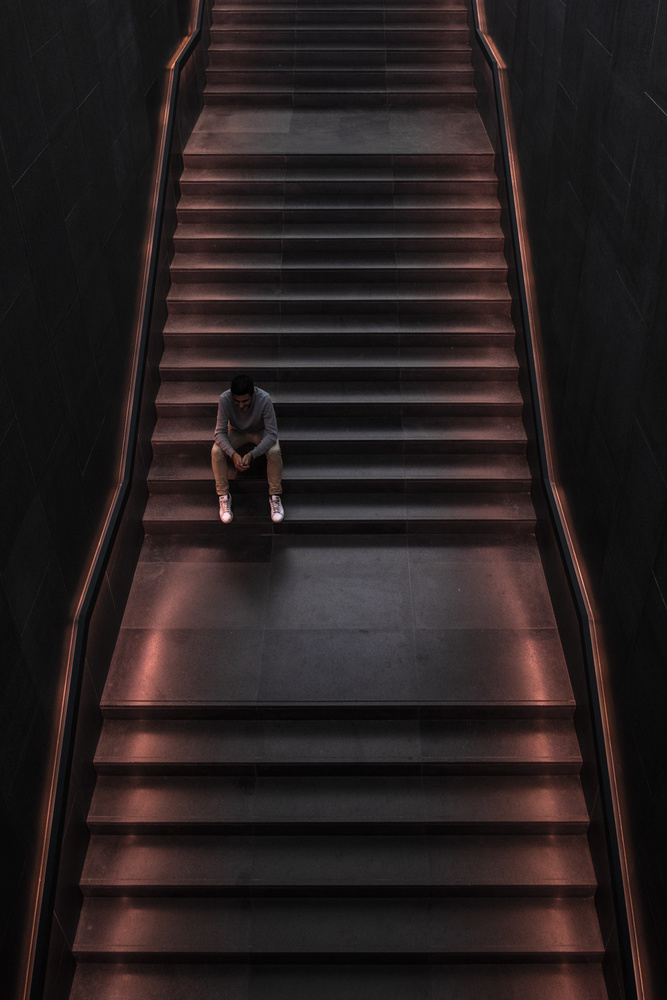 A piece of fine art art photography titled On the Steps by Valentina D'Alia