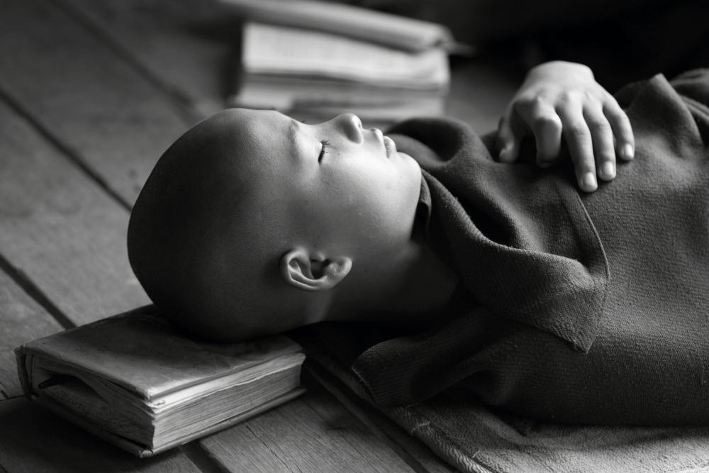 A piece of fine art art photography titled Sleeping Buddha by Walde Jansky