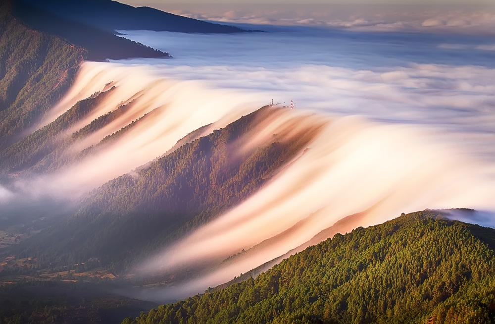 A piece of fine art art photography titled Waterfall of Clouds by Dominic Dähncke