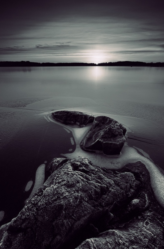 A piece of fine art art photography titled Stepping Stones by Tero Tielinen