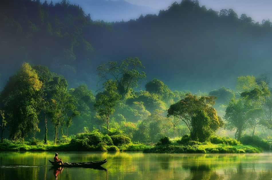 A piece of fine art art photography titled Painting of  Nature by hardibudi