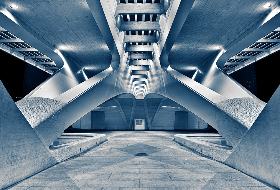 A piece of fine art art photography titled The Underbelly of Calatrava\'s Opera House In Valencia by Allan Tait