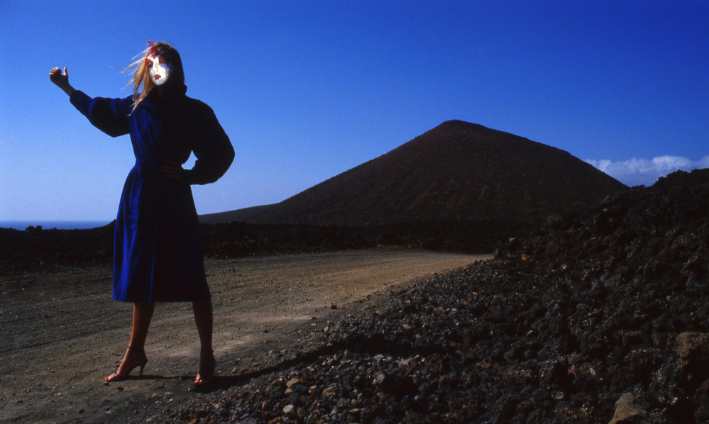 A piece of fine art art photography titled Hitch-hiker (from the Series Imaginations Incognito) by Dieter Matthes