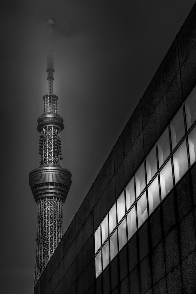 A piece of fine art art photography titled Tokyo - Skytree by Michael Jurek