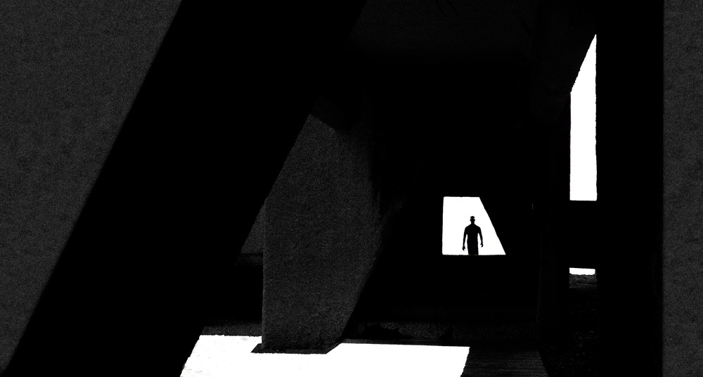A piece of fine art art photography titled The Shadow of a Man by Inge Schuster