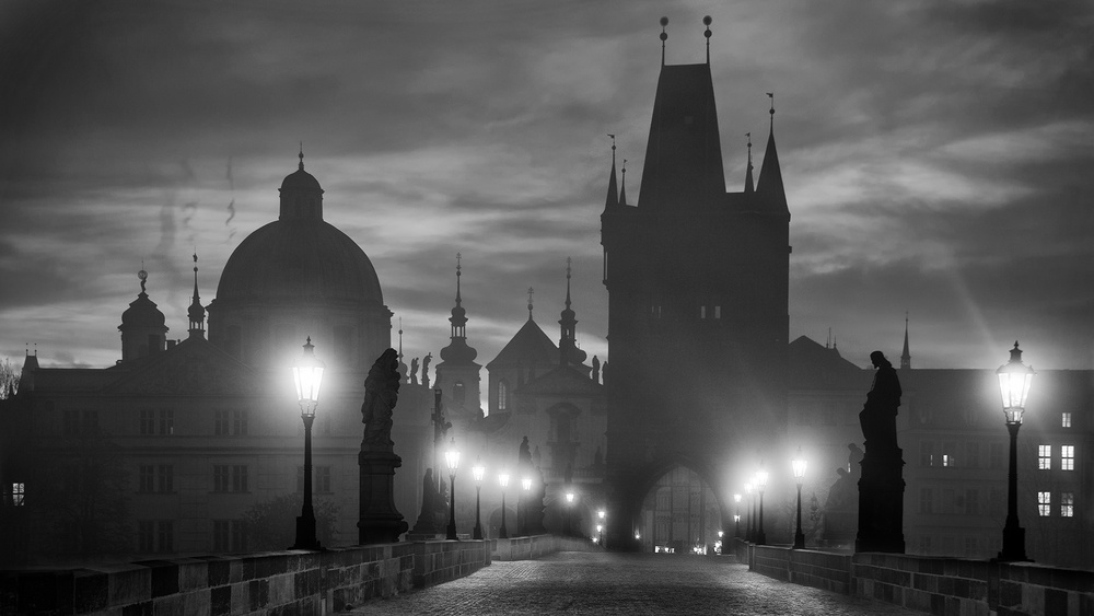 A piece of fine art art photography titled Charles Bridge by Marcel Rebro