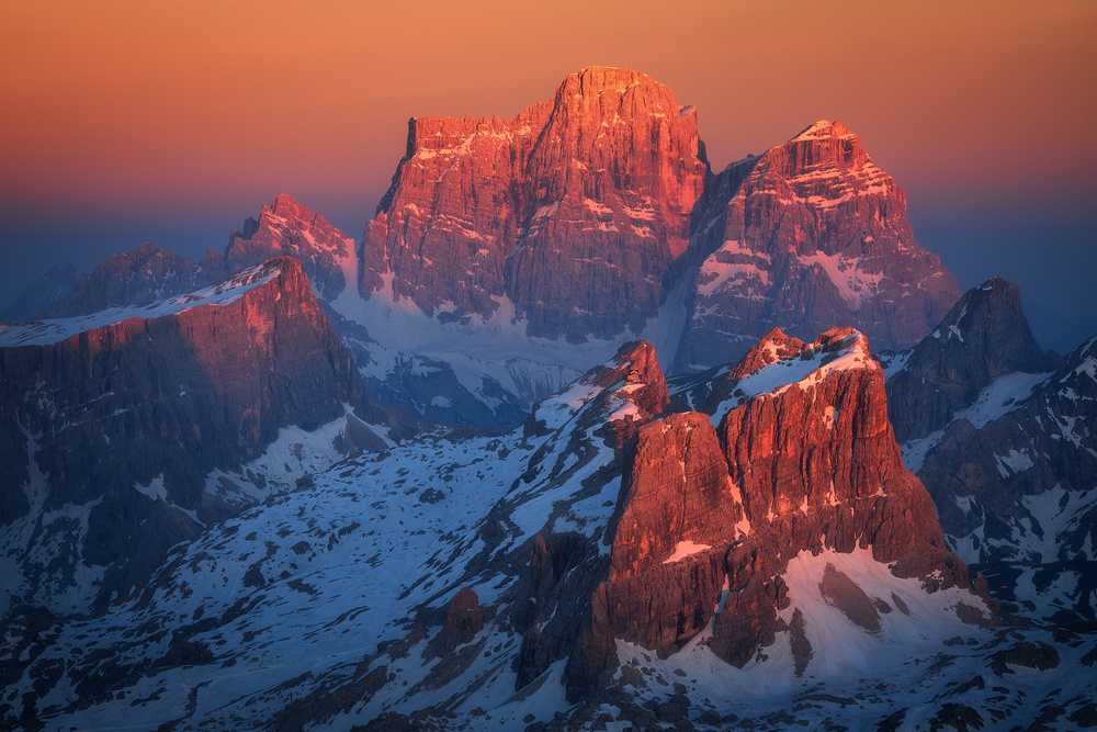 View this piece of fine art photography titled Burning Dolomites by Daniel Fleischhacker