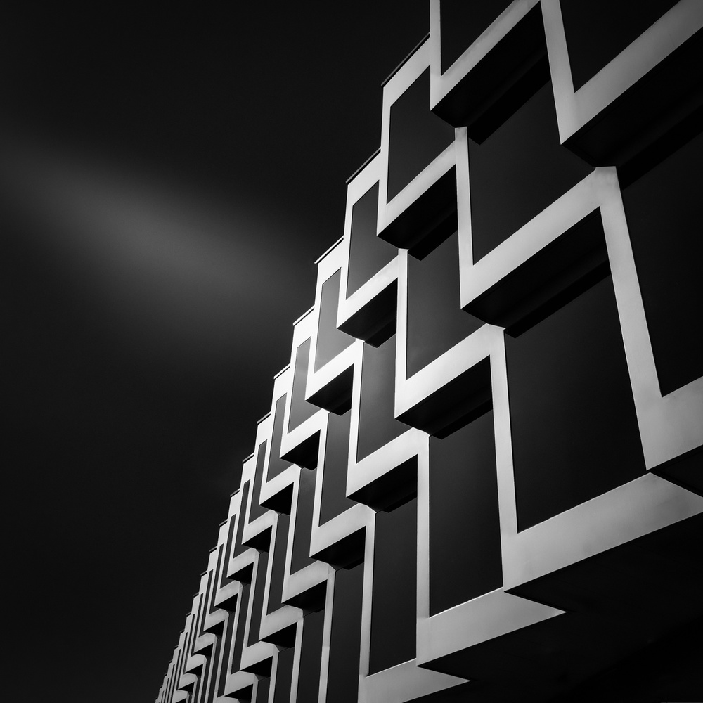 A piece of fine art art photography titled Office Building Berne by Serge Mion