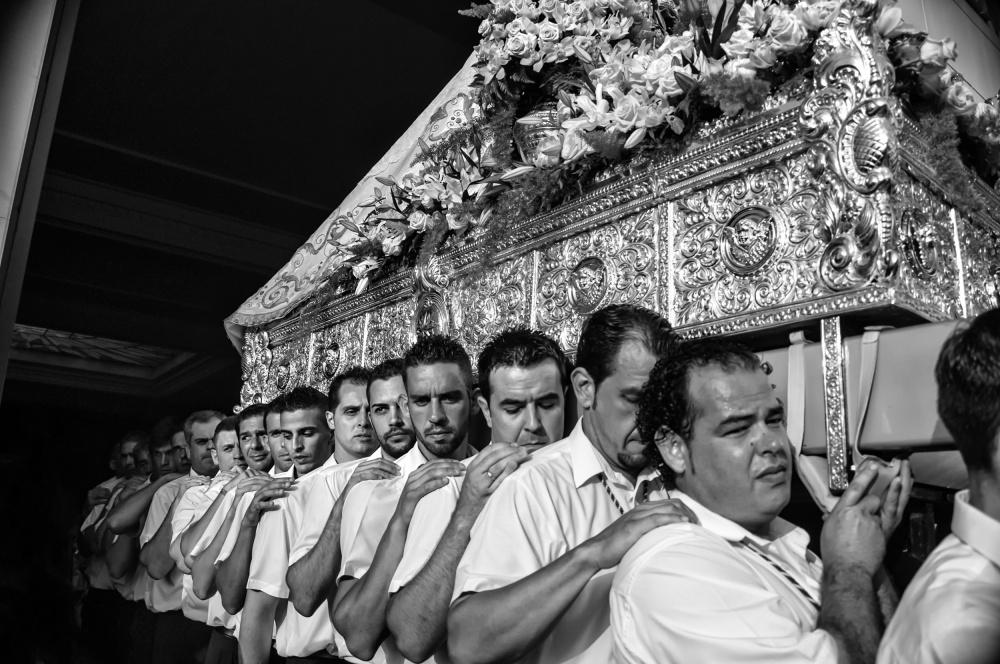 A piece of fine art art photography titled Virgen Del Carmen Festival by Nina Tvalchrelidze