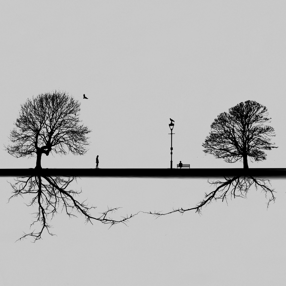 A piece of fine art art photography titled Parallel Worlds by Hadi Malijani