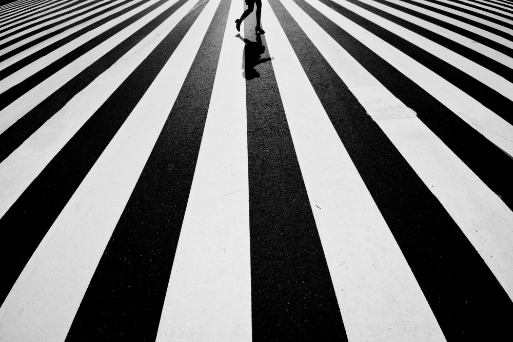 A piece of fine art art photography titled Black and White by Kouji Tomihisa