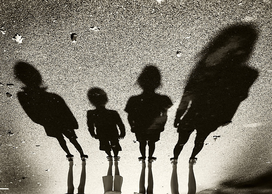 A piece of fine art art photography titled My Four Favorite Aliens by Jeffrey Morris