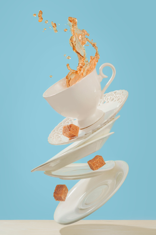 A piece of fine art art photography titled Coffee for a Stage Magician by Dina Belenko