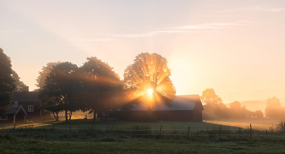 A piece of fine art art photography titled Morning Has Broken by Christian Lindsten