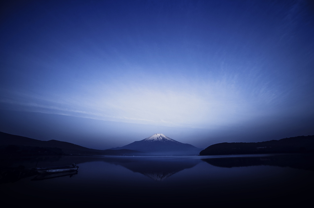 A piece of fine art art photography titled Early Morning Blue Symbol by Takashi Suzuki