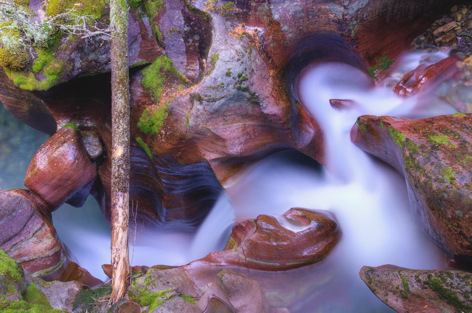 A piece of fine art art photography titled Meandering Gorge by Ansel Siegenthaler