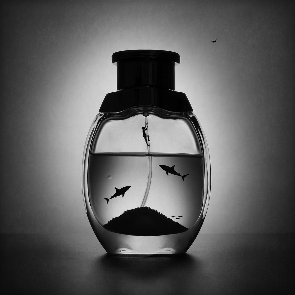 A piece of fine art art photography titled The Aquatic Marine Perfume by Victoria Ivanova