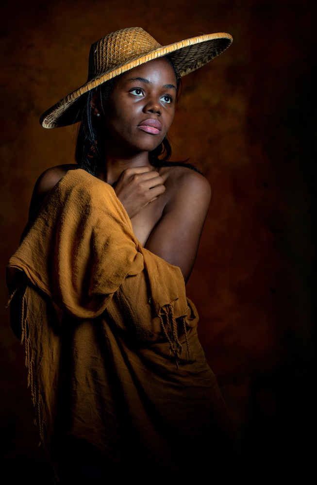 A piece of fine art art photography titled Yellow Hat by Derek Galon MA FRPS FOPS