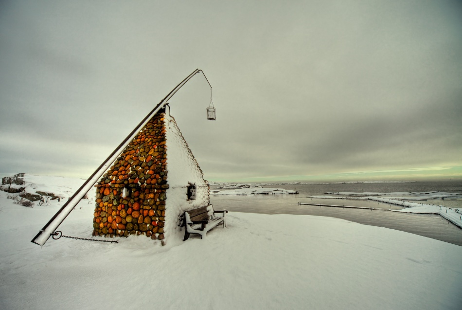 A piece of fine art art photography titled The Lighthouse at Verdens Ende (The End of the World) by David Scarbrough