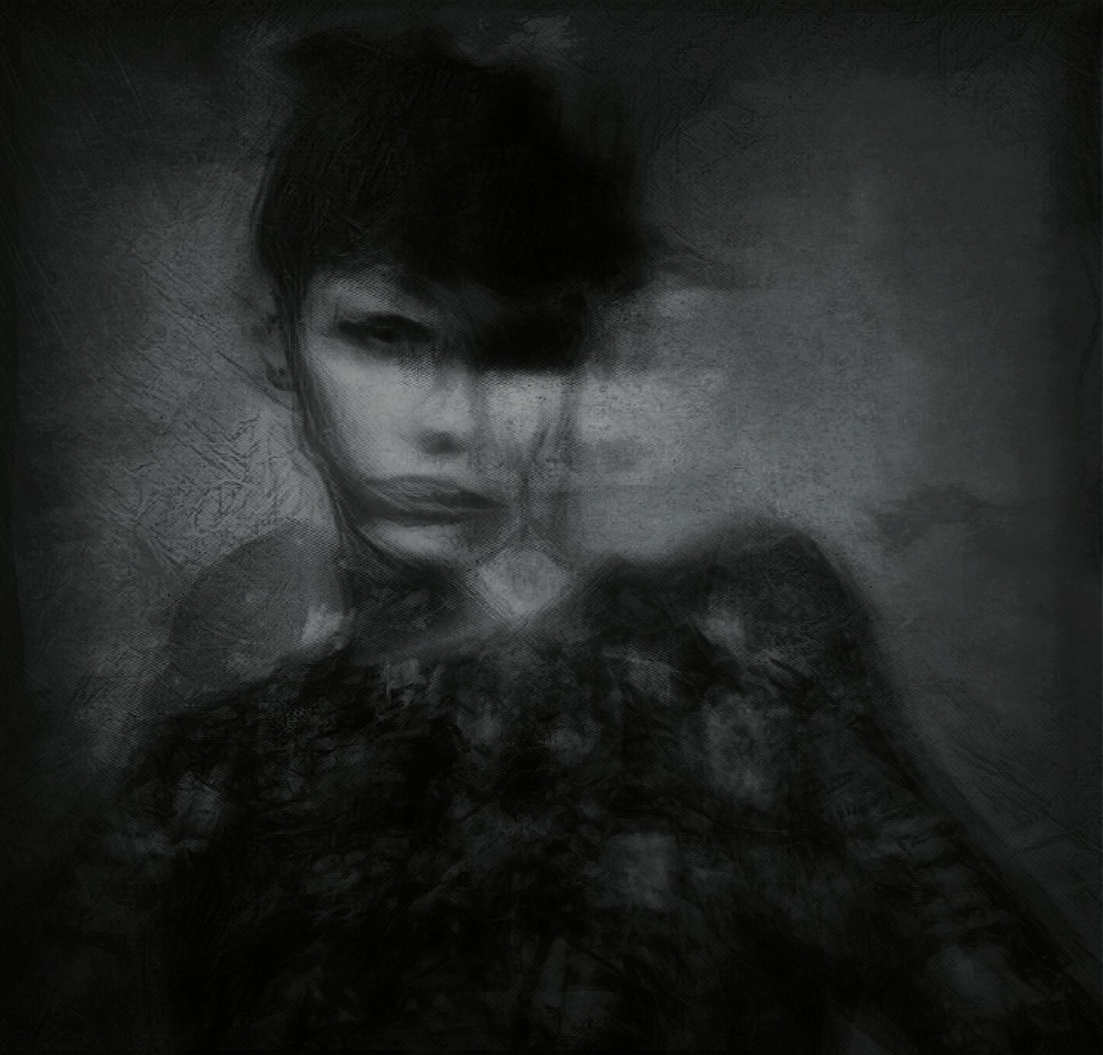 A piece of fine art art photography titled A Quiet Darkness (portrait) by Dalibor Davidovic