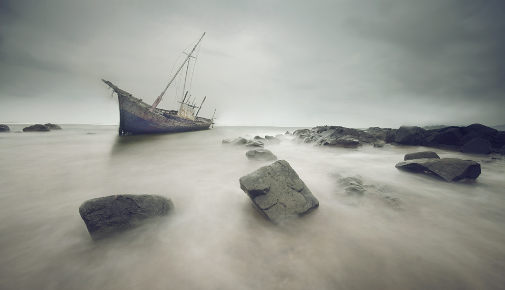 A piece of fine art art photography titled Shipwrecked by akhmad noor