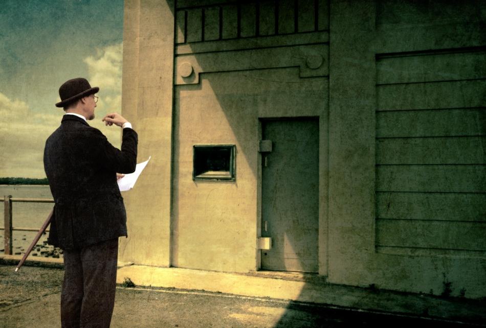 A piece of fine art art photography titled The Surveyor by Mel Brackstone