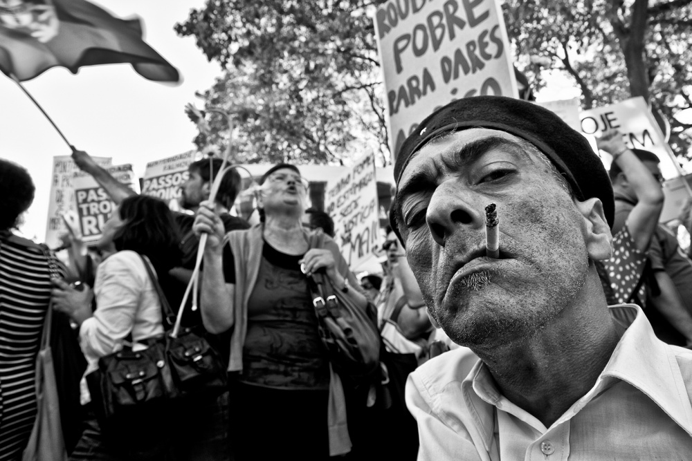 A piece of fine art art photography titled The Revolutionary Man by Luis Sarmento