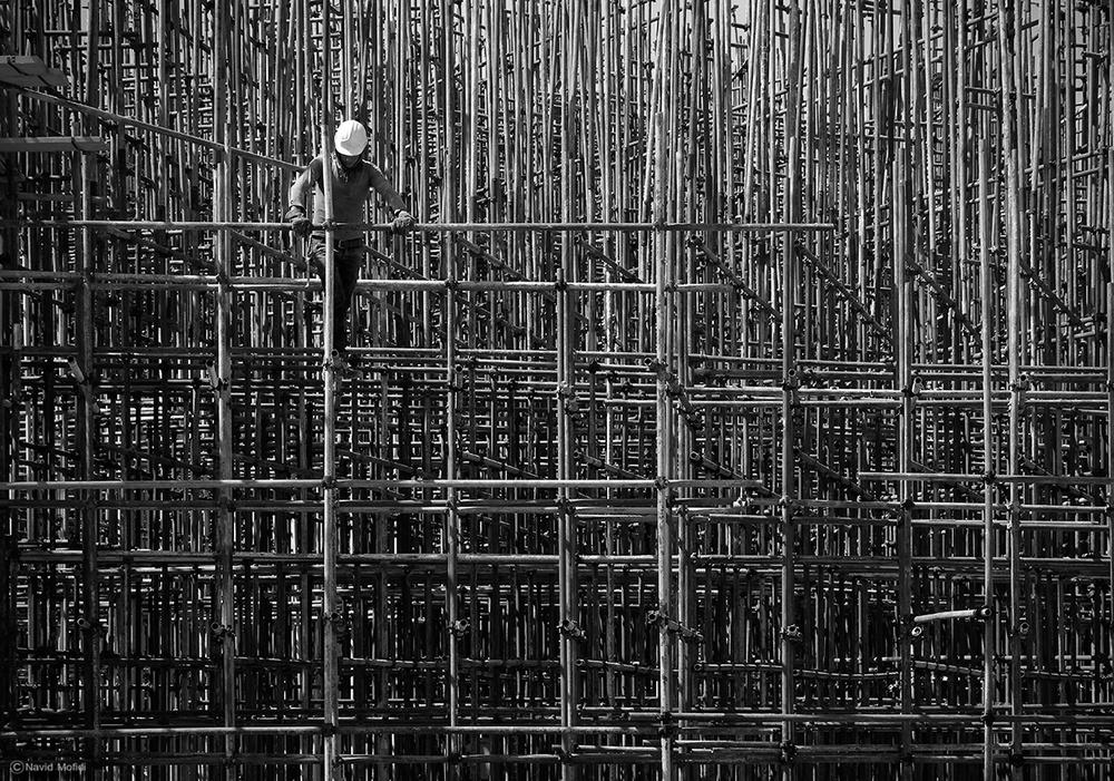 A piece of fine art art photography titled Lines by Navid Mofidi Ahmadi