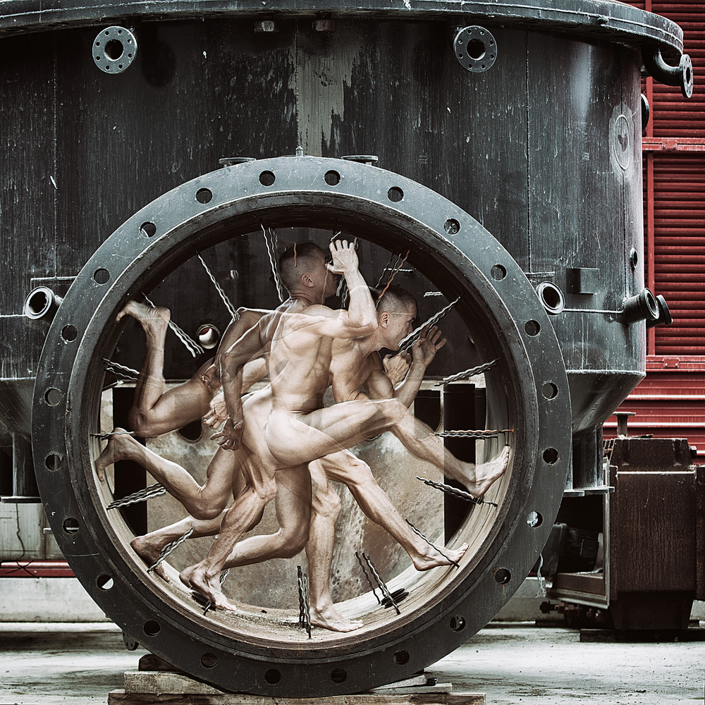 A piece of fine art art photography titled It's a Runner's World II by Jörg Heidenberger