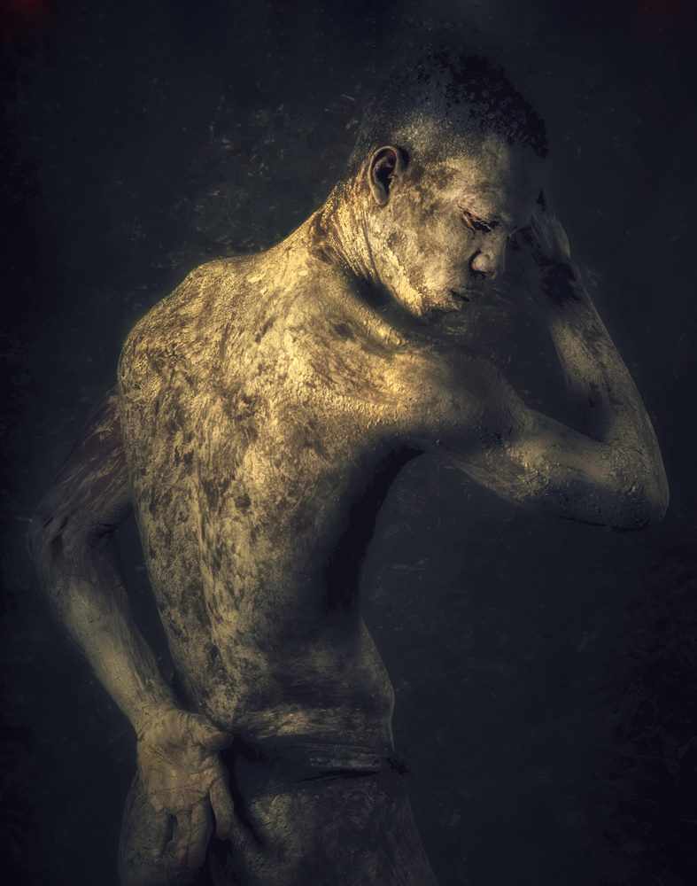 A piece of fine art art photography titled Hide by renco hatenboer