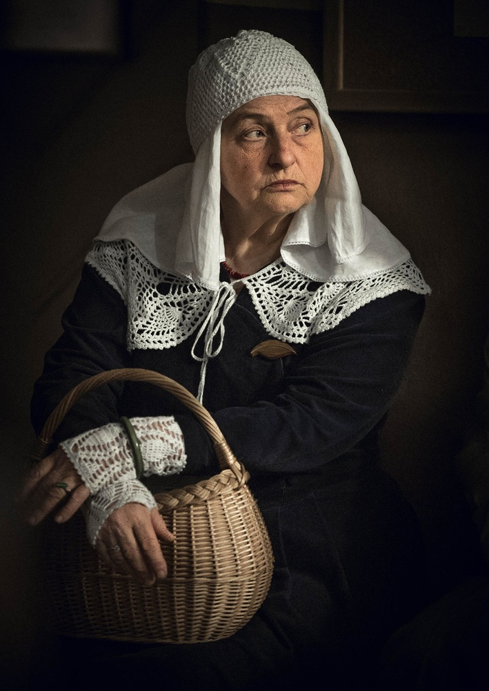 A piece of fine art art photography titled Woman With a Basket by Artur Politov