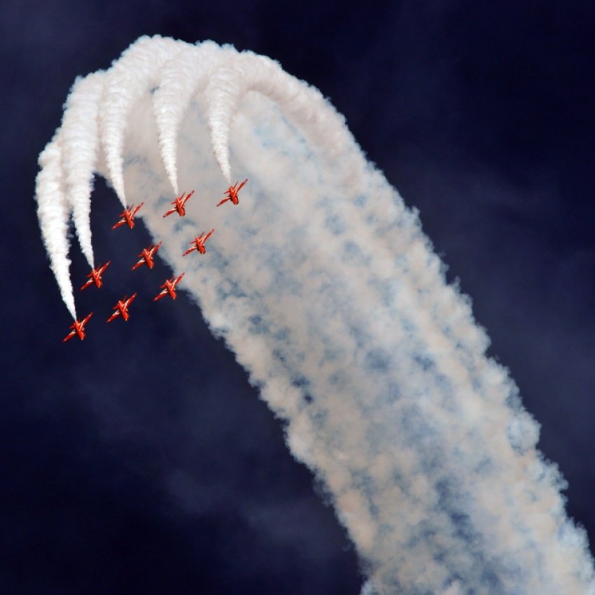 A piece of fine art art photography titled Red Arrows by Stuart McNeil