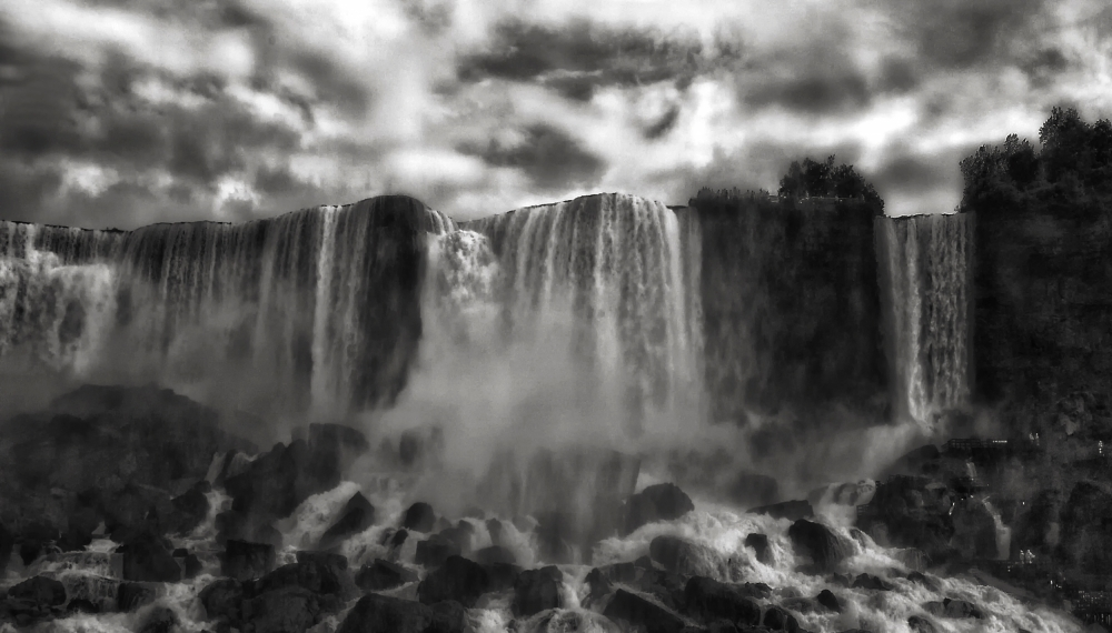A piece of fine art art photography titled Niagara's Cave of the Winds by Yvette Depaepe