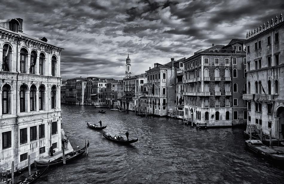 A piece of fine art art photography titled Canal Grande by Norbert Maier