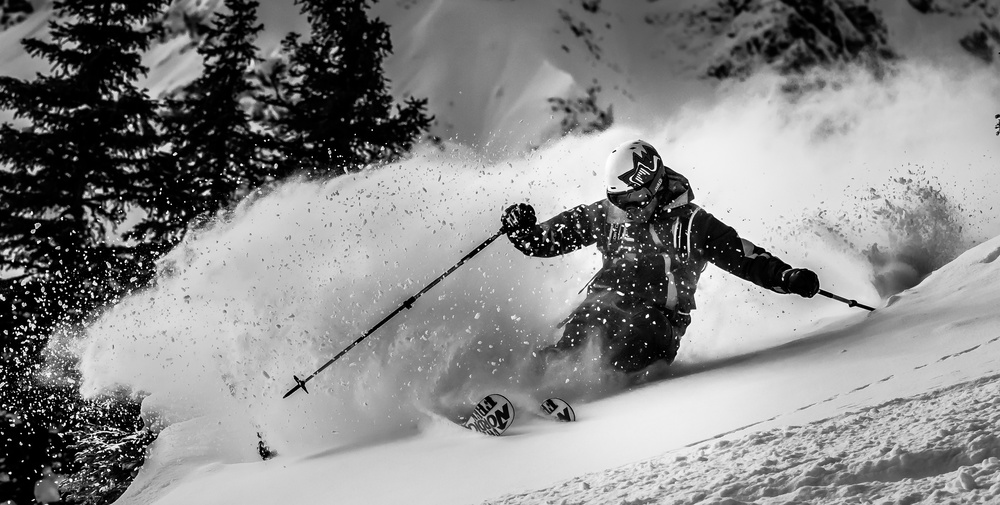 A piece of fine art art photography titled First Tracks by Eric Verbiest