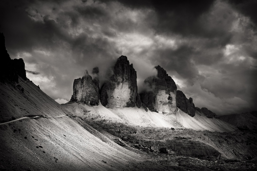 A piece of fine art art photography titled Tre Cime Di Lavaredo by cenci roberto