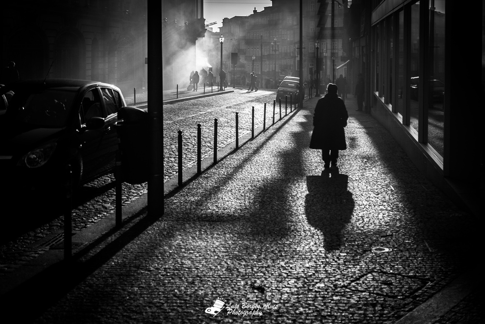 A piece of fine art art photography titled Streets of the Oporto by Luis Borges Alves