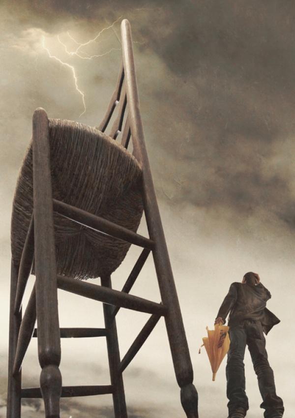 A piece of fine art art photography titled Man:0 - Chair:1 by Christophe Malinowski