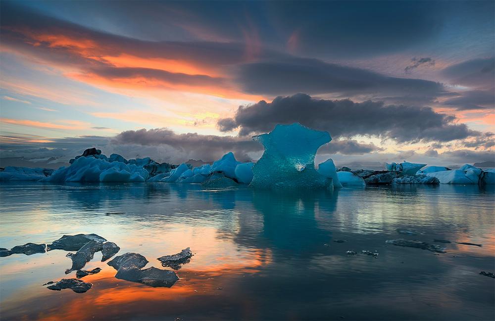 A piece of fine art art photography titled Jokulsarlon Glacier Lagoon by keller