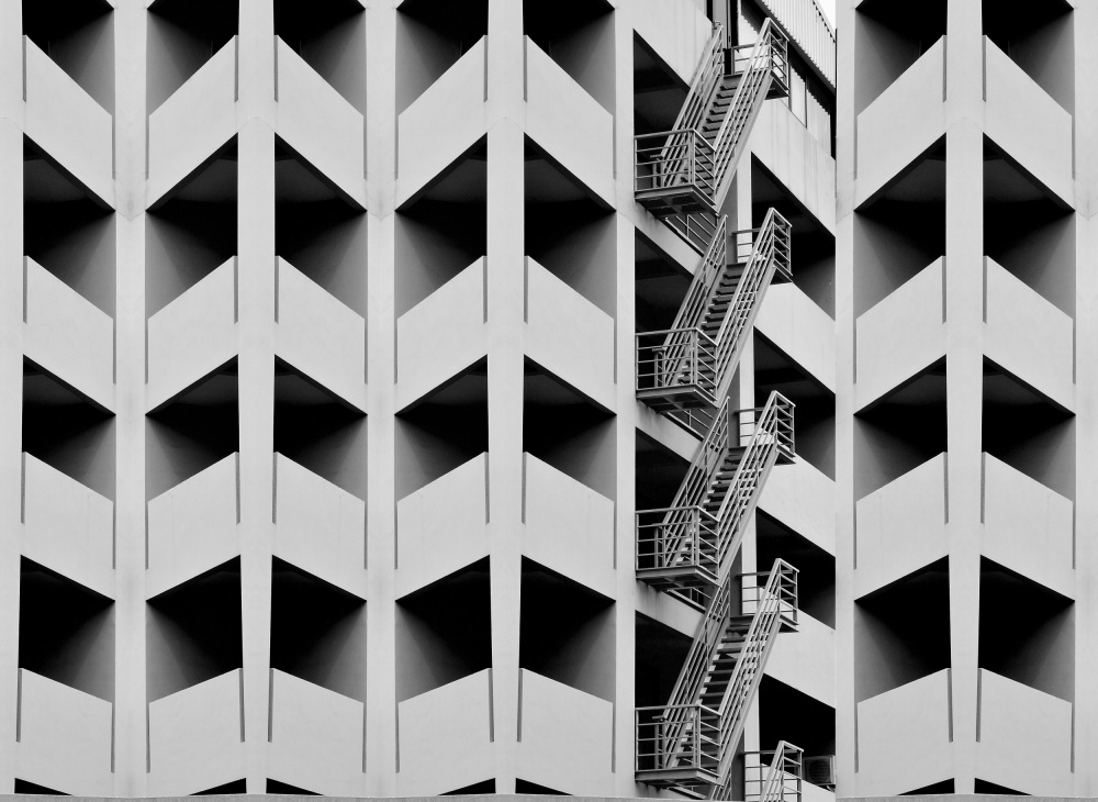 A piece of fine art art photography titled Emergency Exit 1 by Hamid Hanjar