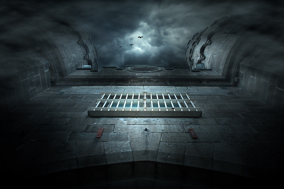 A piece of fine art art photography titled Gateway to Hell by Adrian Donoghue