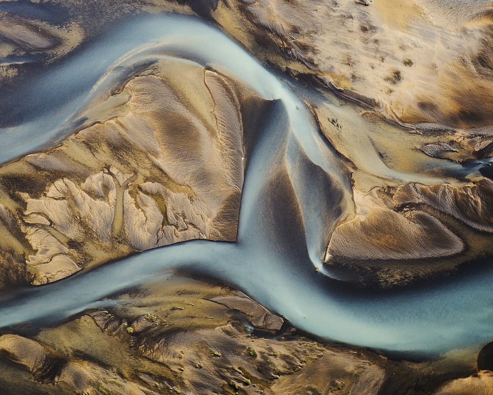 A piece of fine art art photography titled Icelandic Aerial 055 by stavros charisopoulos