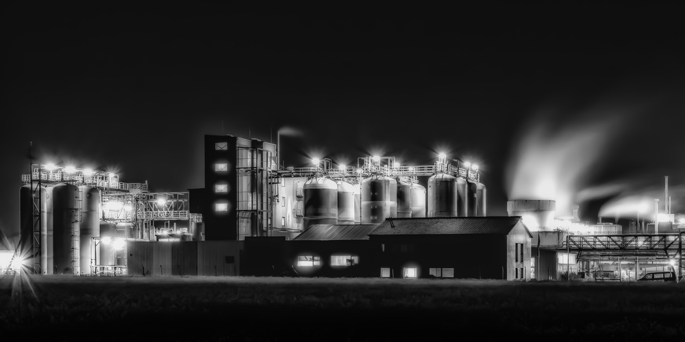 A piece of fine art art photography titled  Tank Areal by Joerg  Vollrath