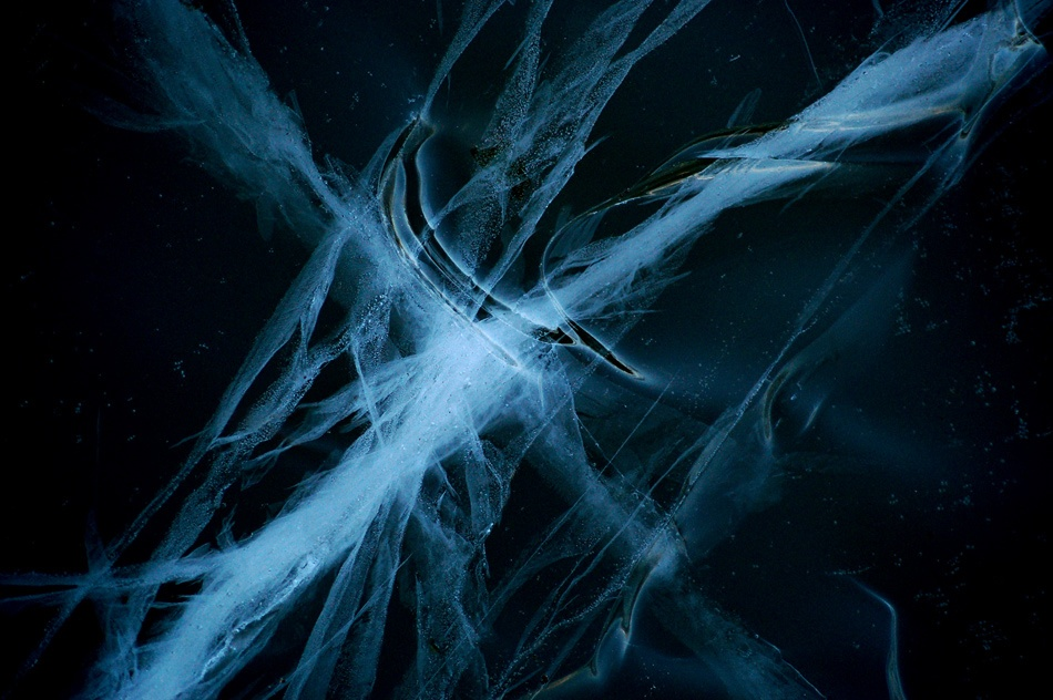 A piece of fine art art photography titled Ice Galaxy by Leif Westling