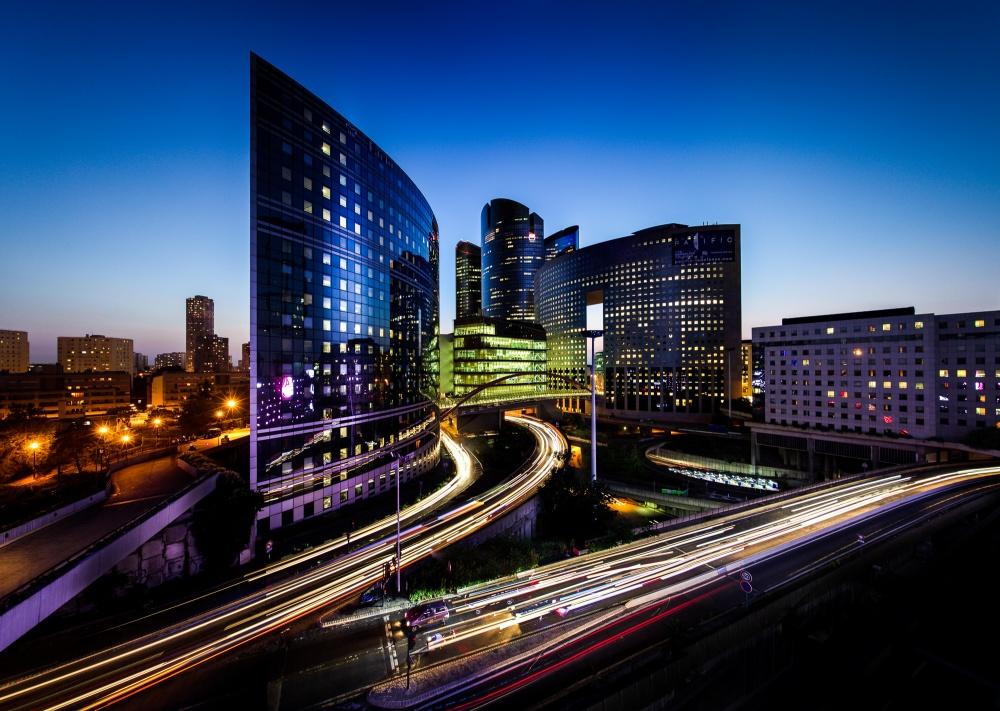 A piece of fine art art photography titled City of Lights by Vaans Ruijten